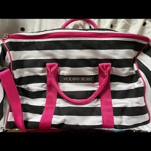 Victoria Secret striped small duffle